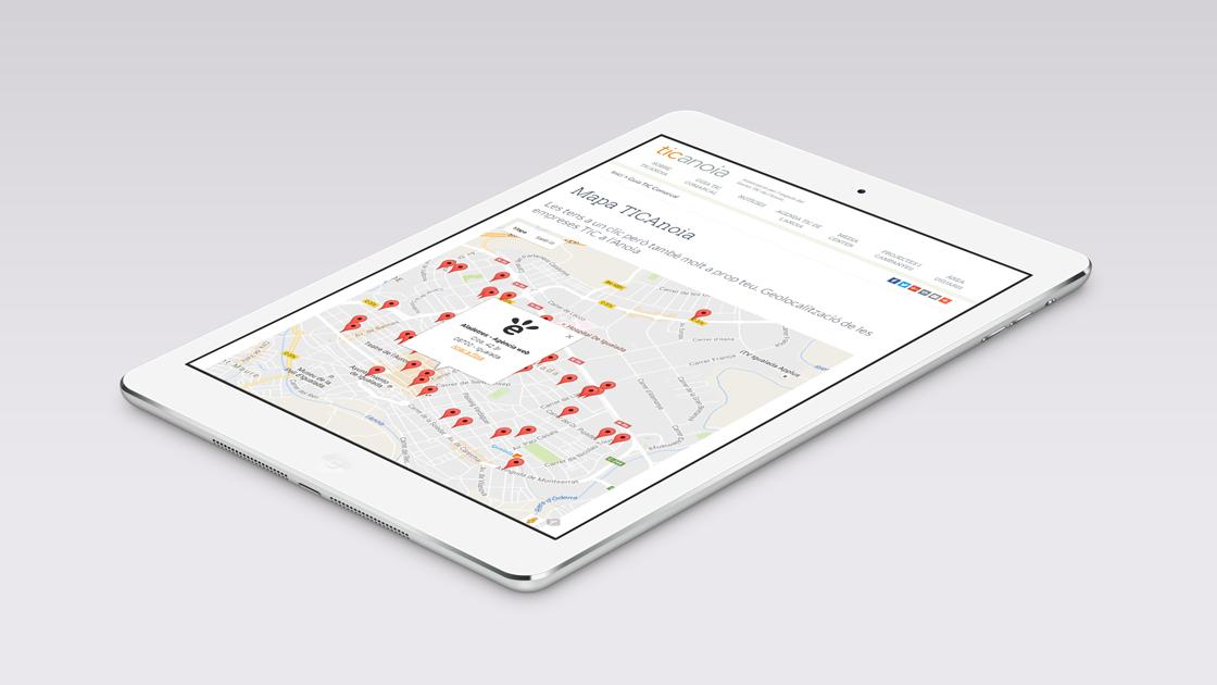 Directori TICAnoia - Web responsive - iPad