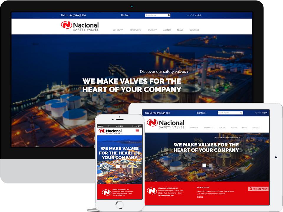 valvulas nacional responsive