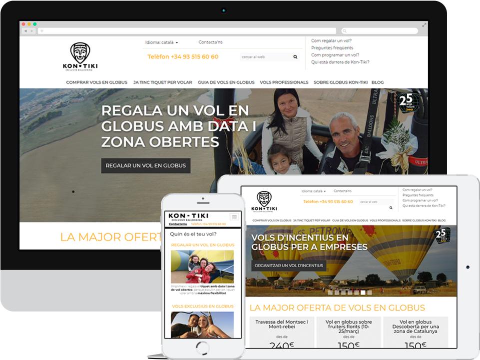 Globus Kon-Tiki. Website comerç-e responsive