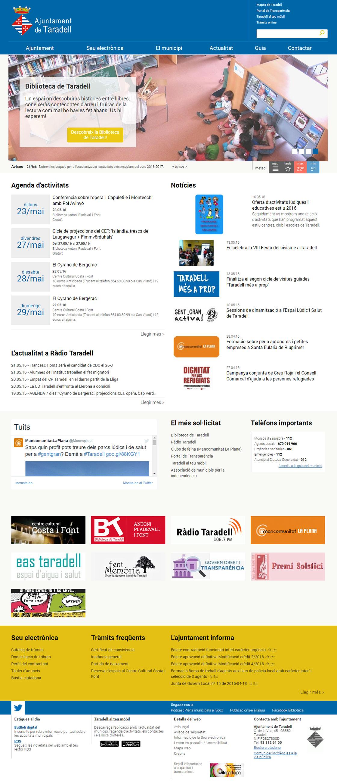 Portal municipal de l'Ajuntament de Taradell