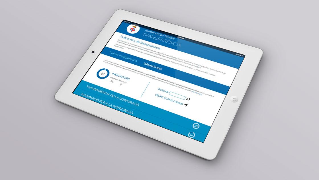 Ajuntament de Taradell. Portal de la transparència en tablet (Responsive)