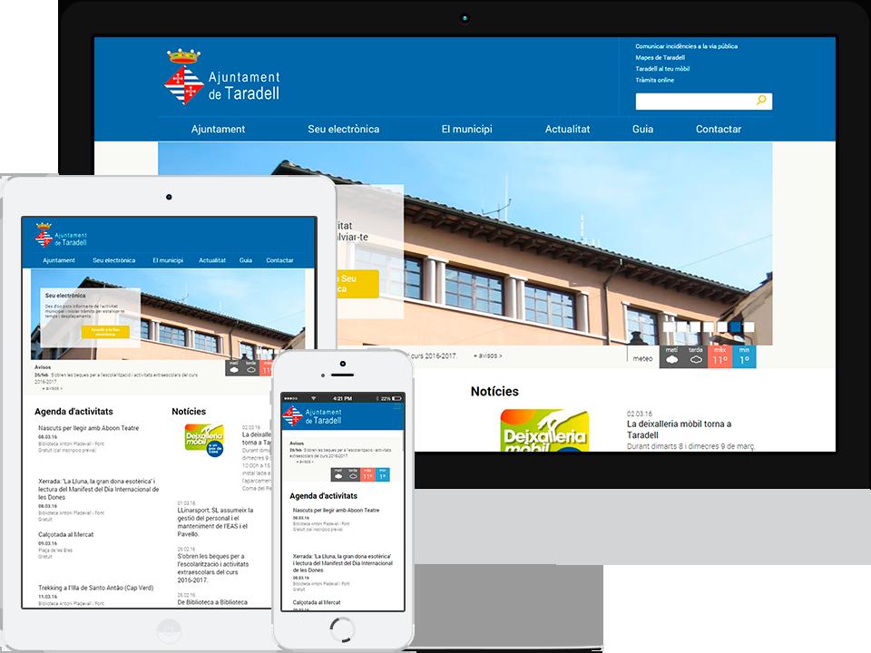 Ajuntament de Taradell. Portal municipal responsive